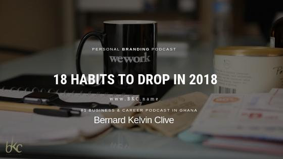Habits to drop